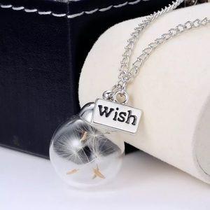 Dandelion Wish Silver Necklace